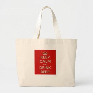 Mantenga cerveza tranquila y de la bebida bolsa tela grande