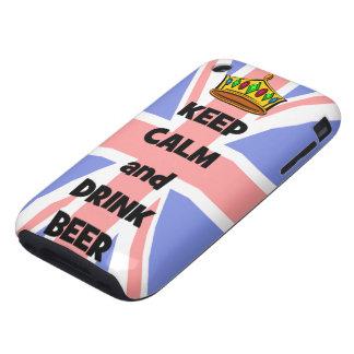 mantenga cerveza tranquila y de la bebida carcasa though para iPhone 3