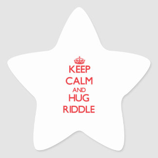 Mantenga criba tranquila y del abrazo calcomanía cuadrada