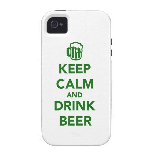 Mantenga día tranquilo y de la bebida de la iPhone 4 funda