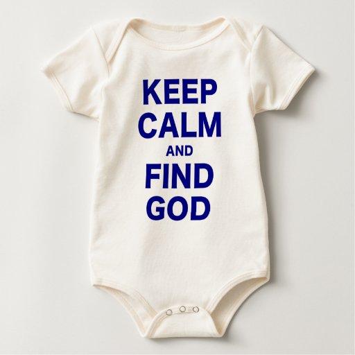 Mantenga dios tranquilo y del hallazgo trajes de bebé
