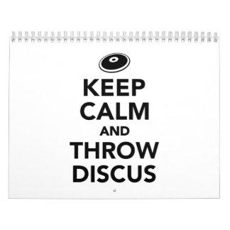 Mantenga disco tranquilo y del tiro calendario