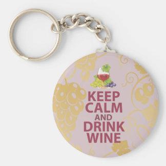 Mantenga diseño único tranquilo y de la bebida del llavero redondo tipo pin