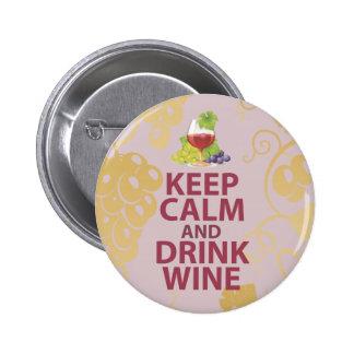 Mantenga diseño único tranquilo y de la bebida del pin redondo de 2 pulgadas