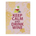 Mantenga diseño único tranquilo y de la bebida del tarjeta postal