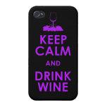 Mantenga dri tranquilo y de la bebida de vino de l iPhone 4/4S carcasa