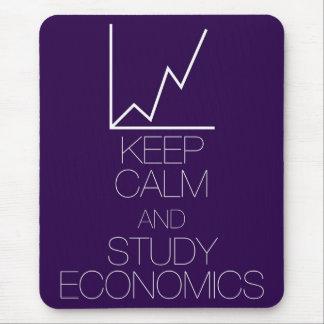 Mantenga economía tranquila y del estudio tapete de ratón