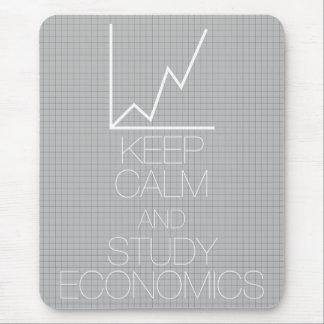 Mantenga economía tranquila y del estudio alfombrilla de raton