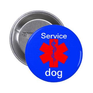 mantenga el botón alerta médico del símbolo del pin redondo de 2 pulgadas