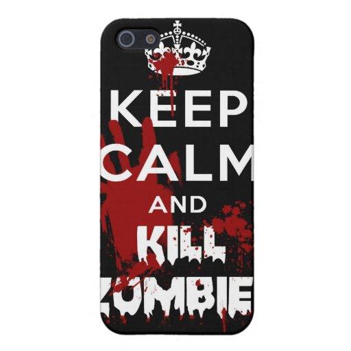 Mantenga el caso tranquilo y de la matanza 4S de iPhone 5 Funda