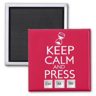 Mantenga el control tranquilo y de la prensa Alt y Imán Cuadrado