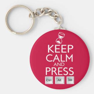 Mantenga el control tranquilo y de la prensa Alt y Llavero