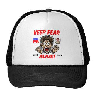 Mantenga el miedo vivo gorras de camionero