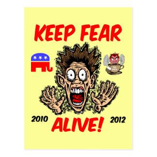 Mantenga el miedo vivo tarjetas postales