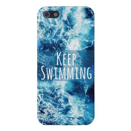 Mantenga el nadar del océano de motivación iPhone 5 cárcasa