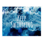 Mantenga el nadar del océano de motivación tarjetas postales