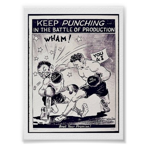 Mantenga el perforar la batalla de la producción poster