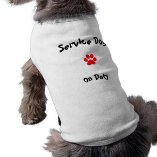 Mantenga el perro de servicio playera sin mangas para perro