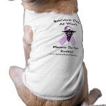 Mantenga el perro en la camisa del trabajo camisa de perro