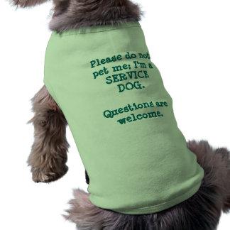 Mantenga el perro/las preguntas playera sin mangas para perro