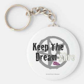 Mantenga el sueño vivo en símbolo de las ratas de  llavero redondo tipo pin