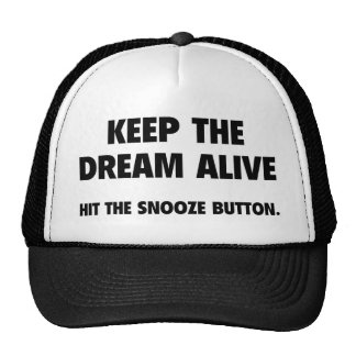 Mantenga el sueño vivo. Golpee el botón de la cabe Gorros Bordados