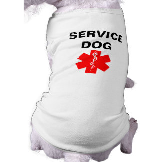 Mantenga el tanque alerta médico rojo de la playera sin mangas para perro
