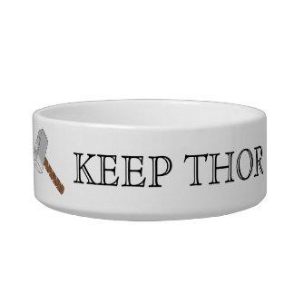 ¡Mantenga el Thor Thorsday! Acaricie el cuenco Tazón Para Agua Para Gatos