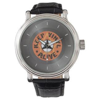 Mantenga el vinilo vivo relojes de mano