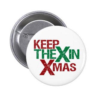 Mantenga el X Navidad Pin