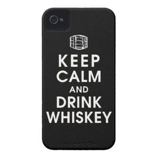 mantenga enchufe tranquilo y de la bebida Dan del Case-Mate iPhone 4 Protectores