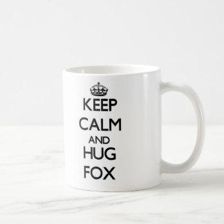 Mantenga Fox tranquilo y del abrazo Taza