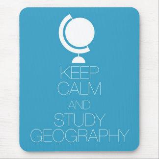 Mantenga geografía tranquila y del estudio alfombrilla de raton