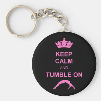 Mantenga gimnasta tranquilo y de la caída llaveros personalizados