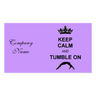 Mantenga gimnasta tranquilo y de la caída tarjeta de visita