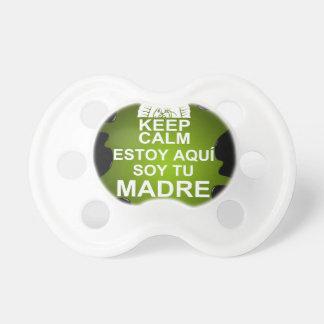 MANTENGA GUADALUPE TRANQUILA ESTOY AQUI ADAPTABLE CHUPETE DE BEBE