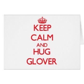Mantenga guantero tranquilo y del abrazo tarjeta