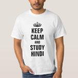Mantenga Hindi tranquilo y del estudio Playera