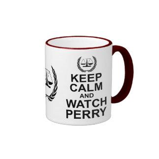 Mantenga humor legal tranquilo y del reloj de taza de dos colores