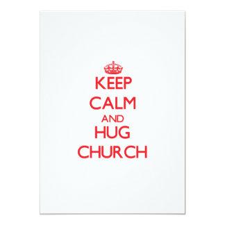 Mantenga iglesia tranquila y del abrazo invitacion personalizada