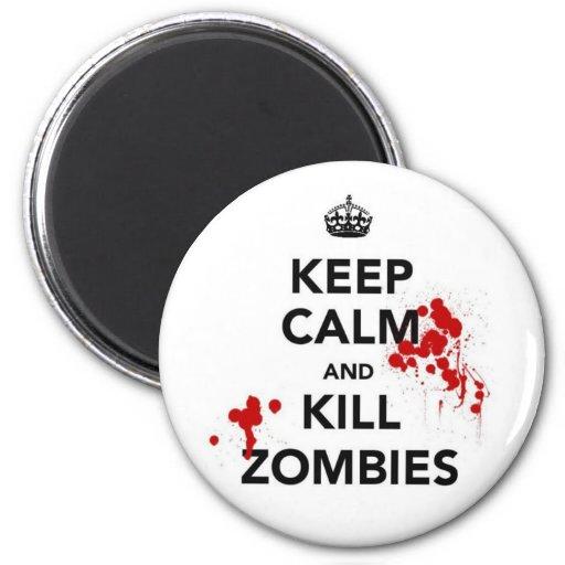 mantenga imán tranquilo y de la matanza de los zom