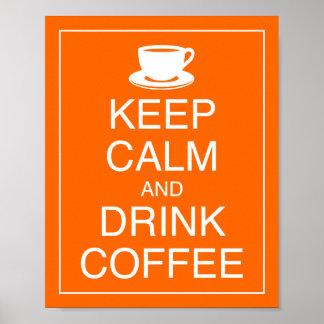 Mantenga impresión tranquila y de la bebida del ca póster