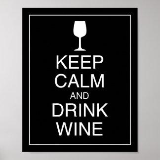 Mantenga impresión tranquila y de la bebida del póster