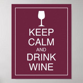 Mantenga impresión tranquila y de la bebida del vi