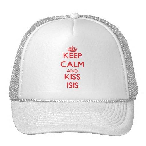 Mantenga ISIS tranquilo y del beso Gorros Bordados