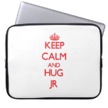 Mantenga JR tranquilo y del abrazo Funda Portátil
