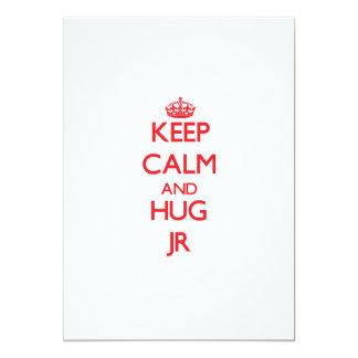 Mantenga JR tranquilo y del abrazo Invitaciones Personales
