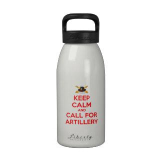 Mantenga la botella de agua tranquila blanca