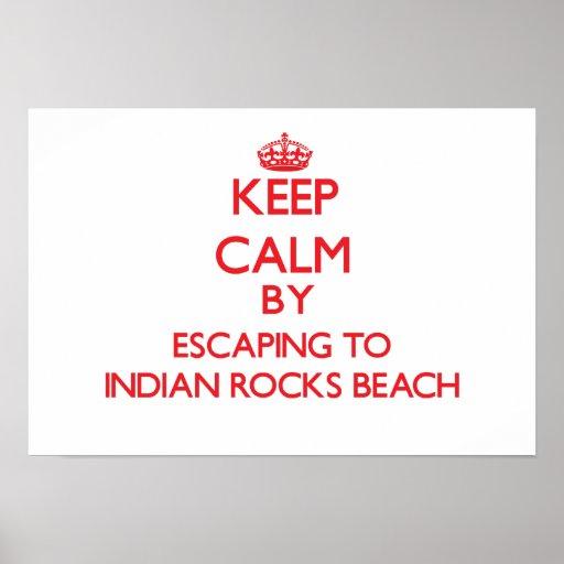 Mantenga la calma escapándose a la playa india de  póster
