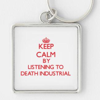 Mantenga la calma escuchando la MUERTE INDUSTRIAL Llavero